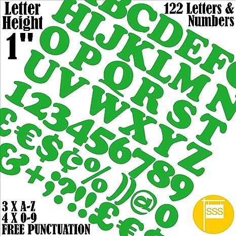 Lettere E Numeri Autoadesivi Confezione Da 122 Pezzi X 25 Cm 25