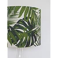 Handmade Botanical Palm Leaves Garden Drum Lampshade Lightshade