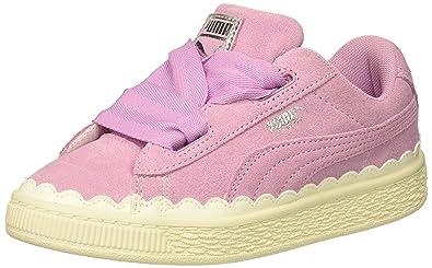 quality design f0c8e dfaaf PUMA Kids' Suede Heart Rubberized Sneaker