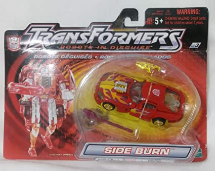 Transformers Robots in Disguise SIDEBURN Deluxe Rid 2001