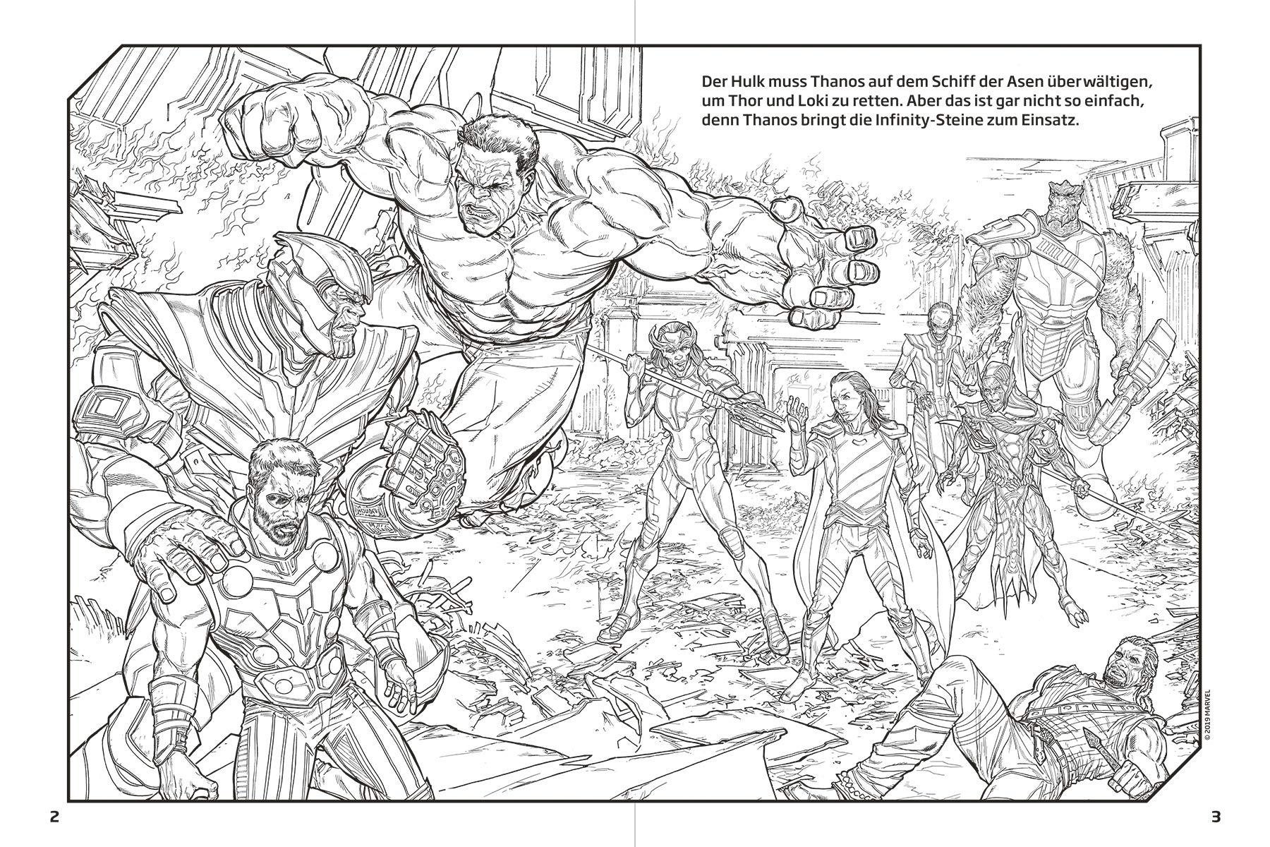 Marvel Avengers: Mein großes Mal- und Rätselbuch: Malen, Spielen