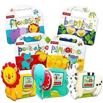 Fisher Price Baby Toddler Beginnings Board Books Super Set (Set of 7  Toddler Books)