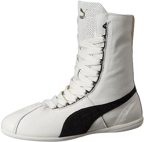 Puma Eskiva Hi, Chaussure de boxe femme Blanc (Whisper