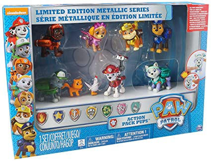 Buy Paw Patrol Limited Edition Metallic Series Action Pup Set Online at Low  Prices in India - Amazon.in e33a746976