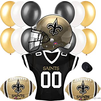 db7984f5 New Orleans Saints Football Party Helmet Jersey Balloons 17pc Pack