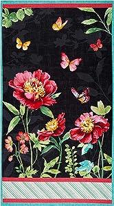 Wilmington Pink Garden Large 24in Panel Multi Fabric
