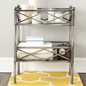 Safavieh American Home Collection James Storage Shelves, Silver