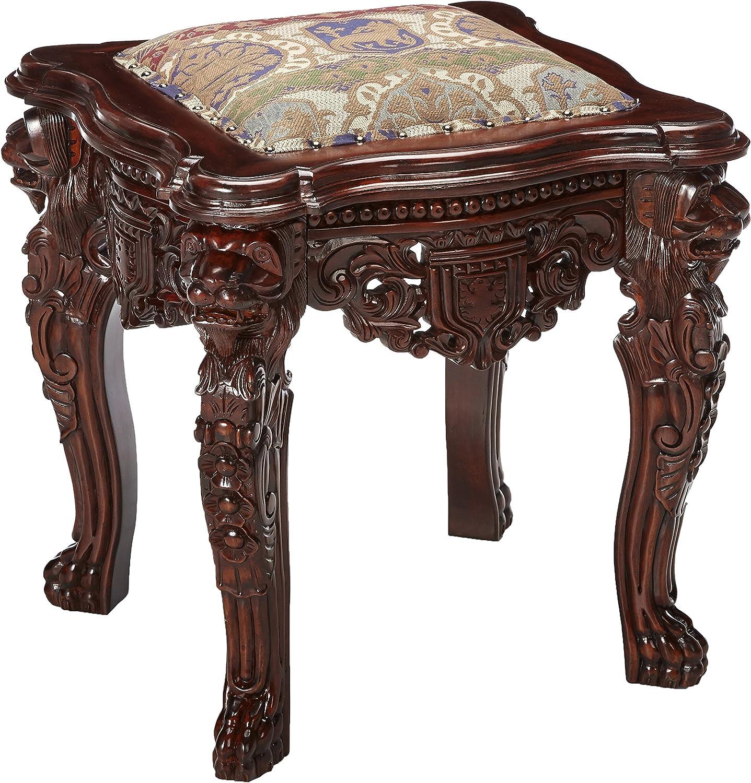 Design Toscano The Lord Raffles Lion Leg Gothic Stool Furniture Decor