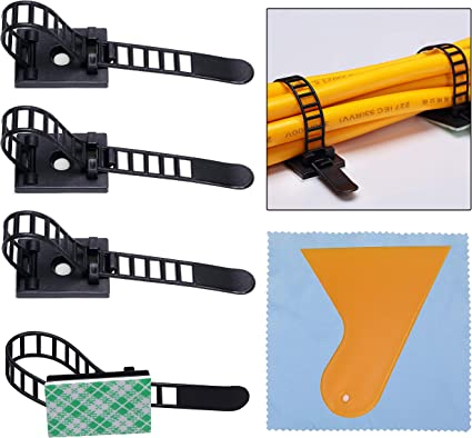 Multipurpose Cord Holder Wire Clips Office and Home Cable Wire Management 100pcs Adhesive Cable Clips Cable Holder for Car Car Cable Organizer