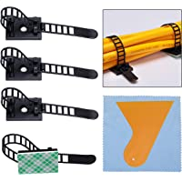 60 Pcs Bridas para Cables Clips de Cable Ajustable Abrazaderas Autoadhesivas de Cable Organizador para Cables para Coche…