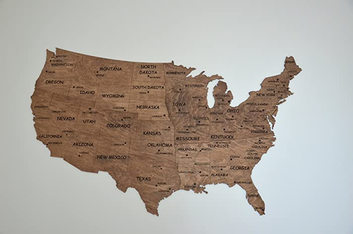 Amazon.com: Independence Day Gift Wall Map United States Map Large ...