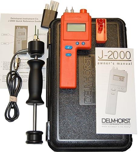 Delmhorst J-2000 PKG Digital Pin-Type Wood Moisture Meter, Expanded Package