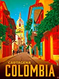 A SLICE IN TIME Cartagena Colombia South America Vintage Travel Home Collectible Wall Decor Advertisement Art Poster Print. 10 x 13.5 inches