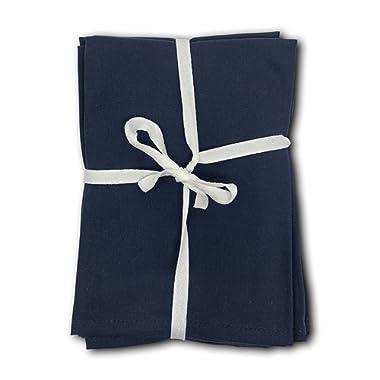 MoLi Products Cloth Napkins Dinner Linens 100% Egyptian Cotton 12 Pack Lunch Linen – Decorative Reusable Fabric Table Servilletas de Tela Restaurant Wedding Luncheon Napkin (Navy Blue)
