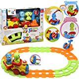 My First Choo Choo Train Set, Beginner Musical Train Set With Tracks and Toy Animals for Baby, Toddler and Kids, Best Gift !