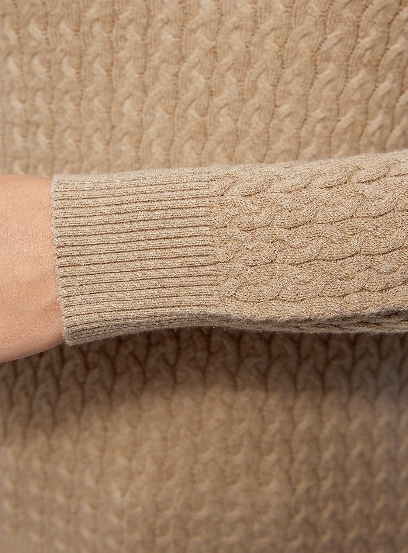 oodji Collection Mujer Jersey de Punto Texturizado con Trenzas Pequeñas   Amazon.es  Ropa y accesorios 83dda8cdb9fa