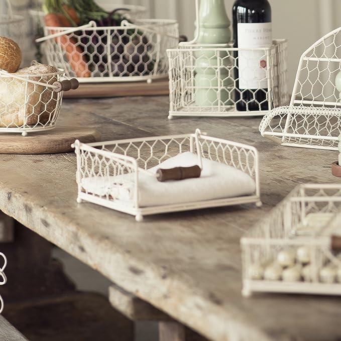 T /& G Woodware Provence Crema Portatovaglioli Colore