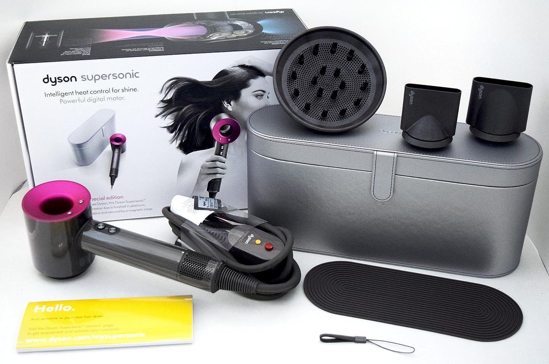 Secador de pelo Dyson, con platino metálico, con funda de viaje color negro: Amazon.es: Belleza