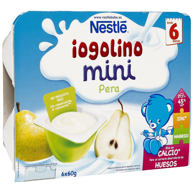 Iogolino - Mini Pera A Partir De 6 Meses 6 x 60 g - [pack de 4]: Amazon.es: Alimentación y bebidas