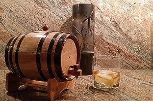 North American Barrel American Oak Barrel with Black Hoops (2 Liter or 0.53 Gallons)