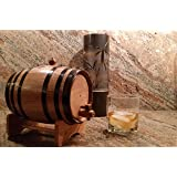 North American Barrel American Oak Barrel with Black Hoops- 2 Liter or .53 Gallons