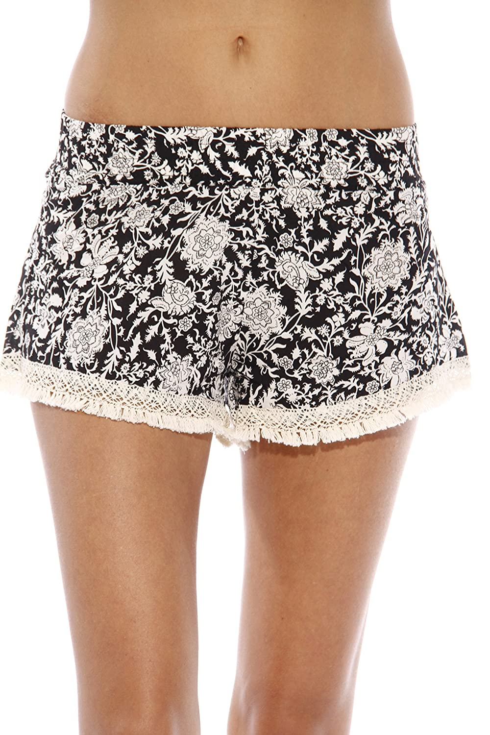 1d86320c872 Just Love High Waisted Women Shorts - Summer Pom Pom Beach Shorts |  Amazon.com