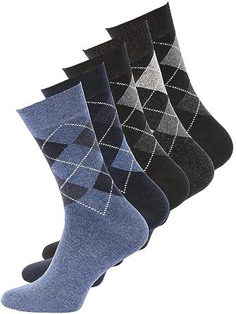 0b44ab1a623 Lot de 8 paires de chaussettes classiques - motif carreaux - sans élastique  - homme -