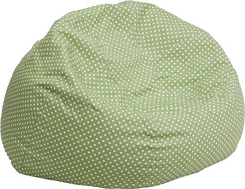 Flash Furniture Oversized Green Dot Bean Bag Chair – DG-BEAN-LARGE-DOT-GRN-GG