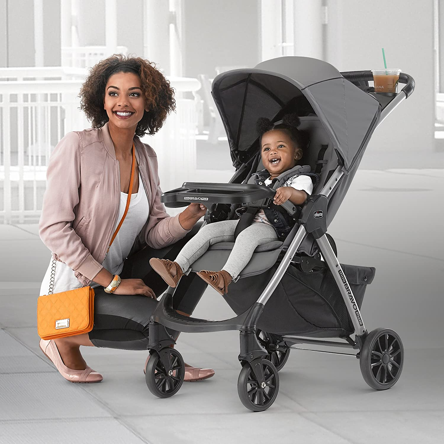 Amazon.com: Chicco Mini Bravo Plus carriola, grafito: Baby