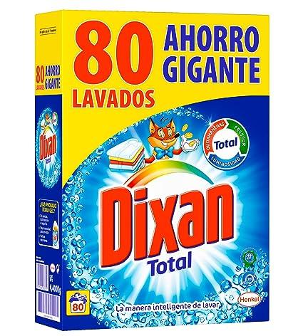 Dixan Detergente en Polvo - 80 Lavados (4,4 Kg): Amazon.es ...
