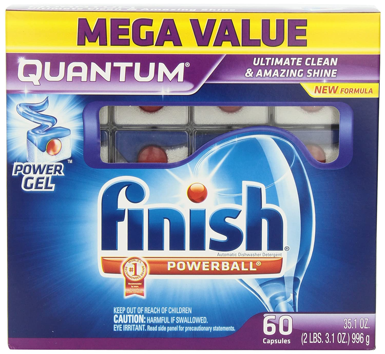 Amazon.com: Finish Quantum Max Shine U0026 Protect Dishwasher Detergent Tablets,  Fresh Scent, 45 Count: Health U0026 Personal Care