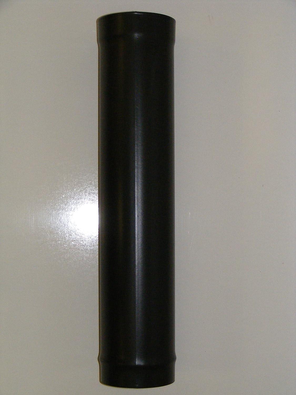5' x 600mm Stove Chimney Flue Pipe Vitreous Enamel Matt Black 5 x 600mm Vitreous Flue Pipe