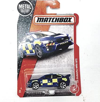 Amazon Com Matchbox 2015 Subaru Wrx Sti Uk Police Squad Car 1 64 Scale Diecast Car 60 125 Toys Games