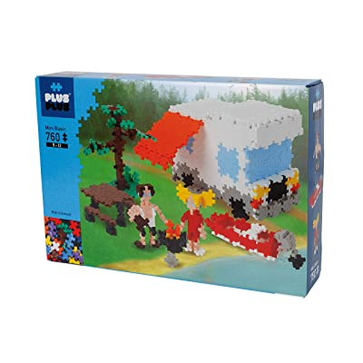 PLUS PLUS - Instructed Play Set - 760 Piece Camping - Construction Building Stem Toy, Interlocking Mini Puzzle Blocks for Kids: Toys & Games