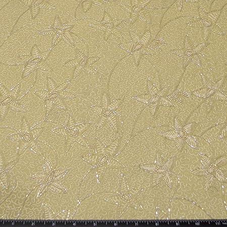 Cream and Gold Embroidered Fabric Chiffon Fabric Zari Fabric Indian Embroidered Fabric Half yard Mandala Fabric