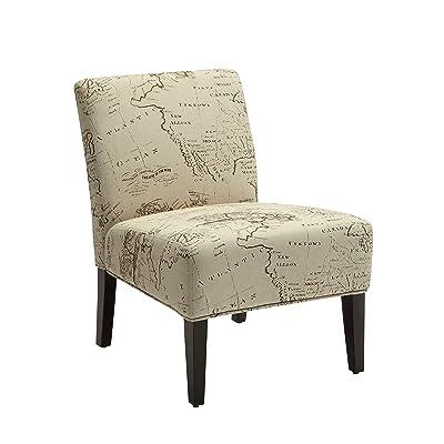 ACME Reece Fabric Accent Chair - Amazon.com: ACME Furniture 59388 Sharan Rocking Chair, Antique White