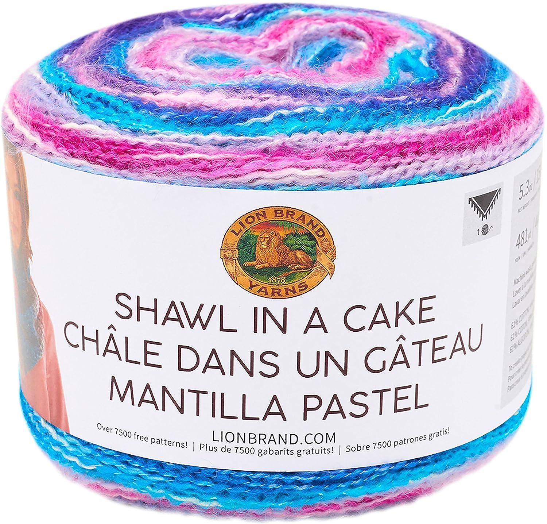 Amazon.com: Lion Brand Yarn 455-212 Shawl in a Cake Yarn, Half Moon