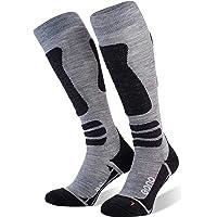 Eono Calcetines de esquí para hombre y mujer, calcetines de esquí básicos o pack de 1 con porcentaje de merino.