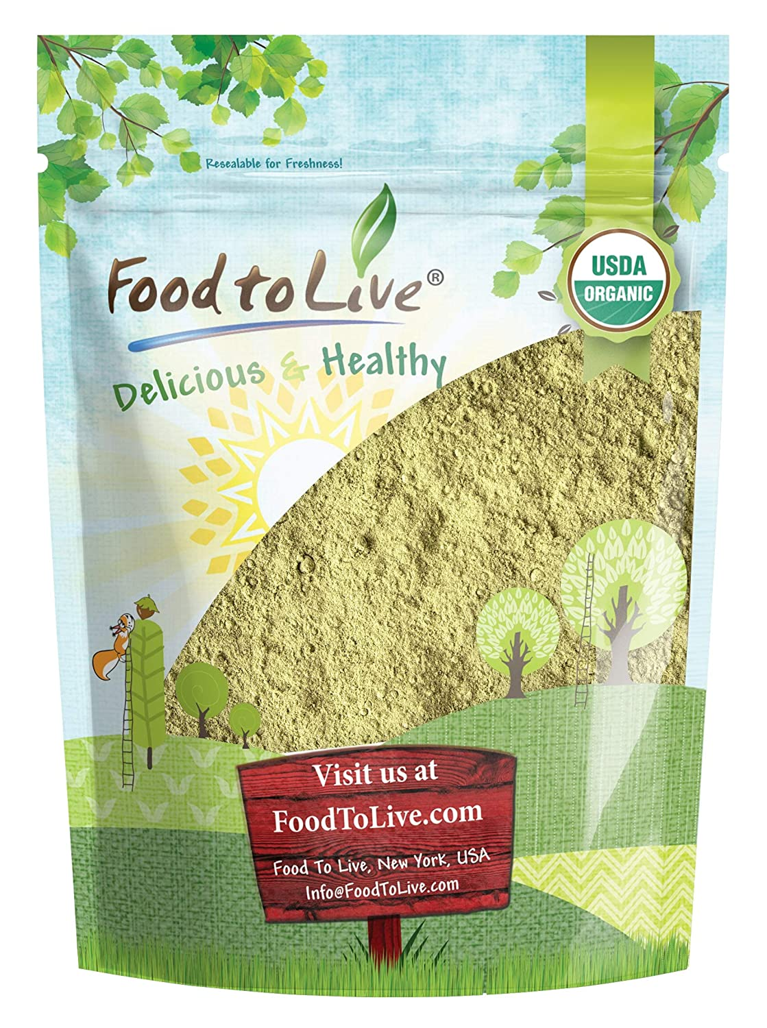 Organic Sprouted Oat Powder, 2 Pounds — Non-GMO Whole Grain Powder, Pure, Vegan Superfood, Bulk, Good Source of Iron, Product of the USA