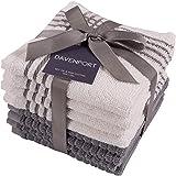 KAF Home Davenport - Juego de 8 paños de cocina (30,5 x 30,5 cm, absorbentes y lavables a máquina), perfectos para…