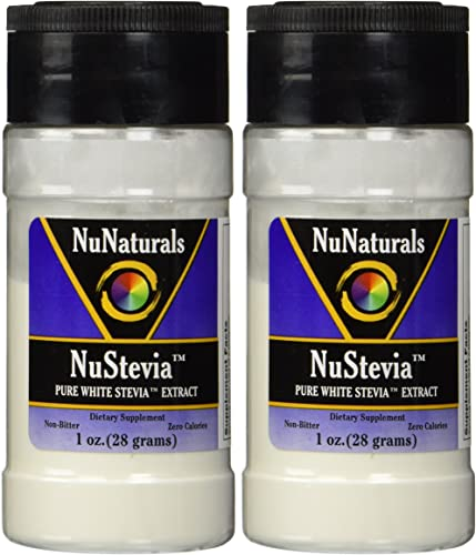 NuNaturals Nustevia Pure White Stevia Extract 1 Oz Pack of 2