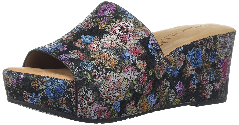 Gentle Souls Women's Forella Platform Slip Slide Sandal B074CKR8HK 8 M US|Black/Flower