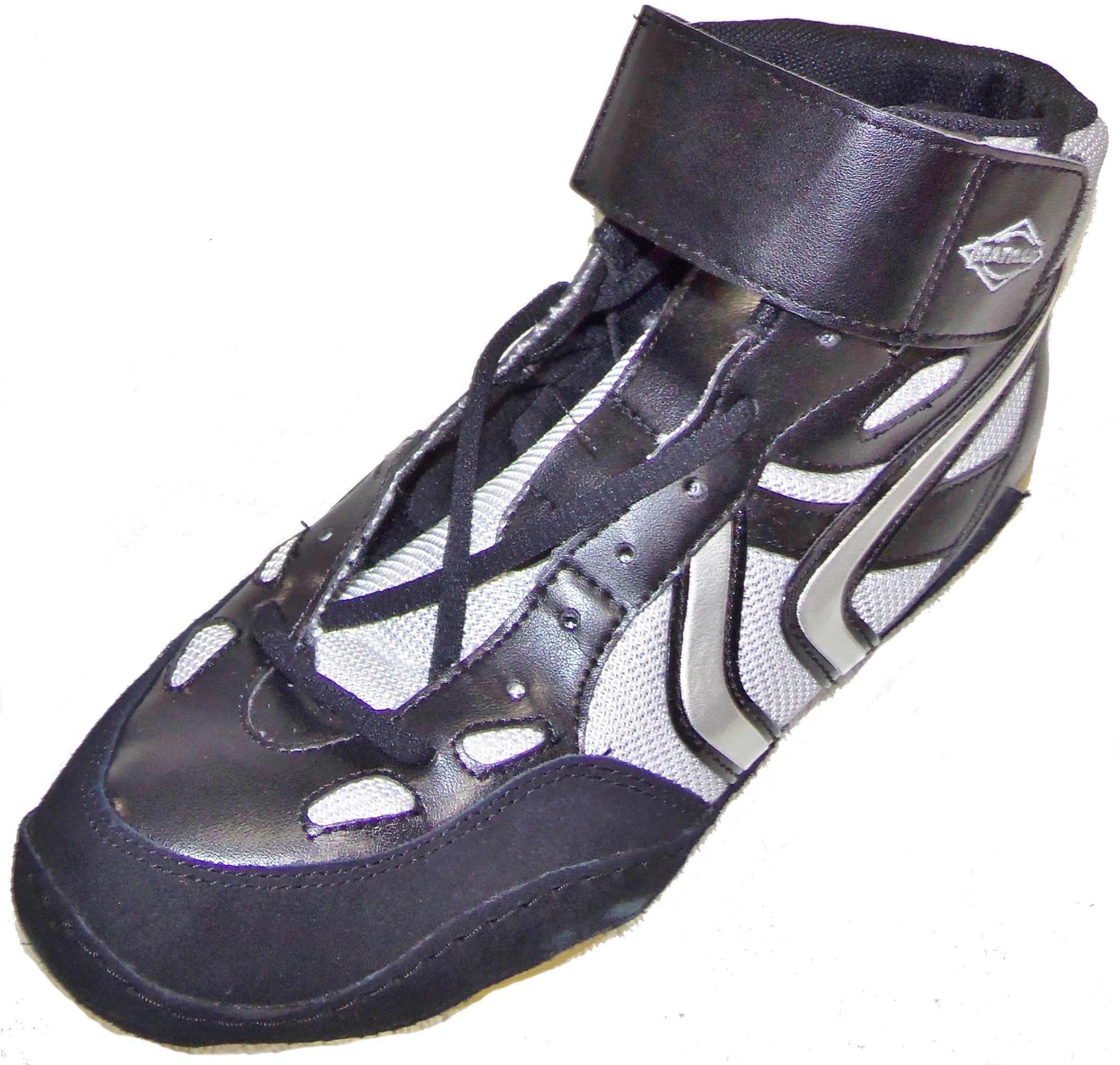 Matman Ultra G5 Revenge Adult Wrestling Shoes Black Silver S040 (9.5) by Matman