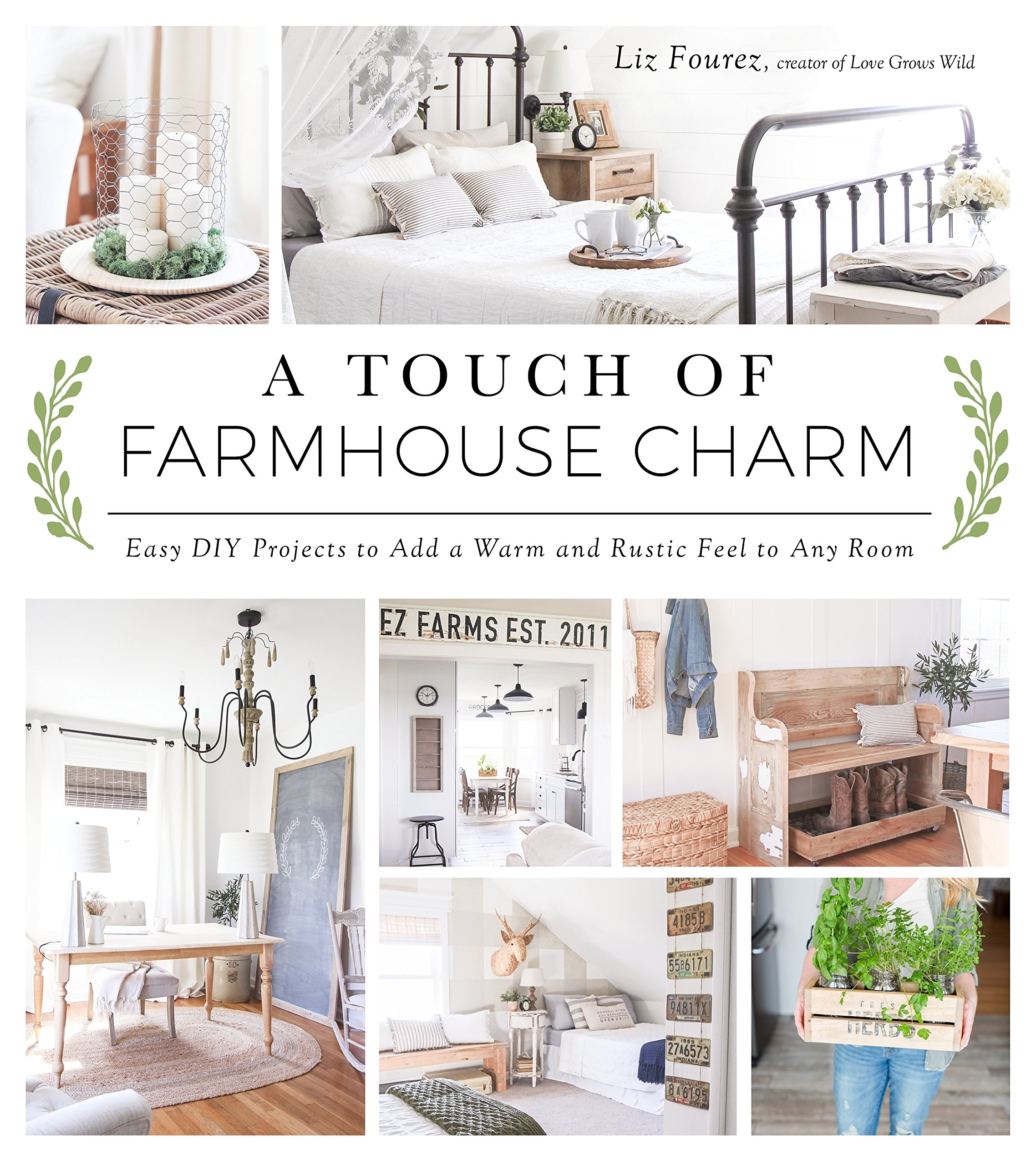 A Touch Of Farmhouse Charm: Easy DIY Projects To Add A Warm And Rustic Feel  To Any Room: Liz Fourez: 9781624142925: Amazon.com: Books