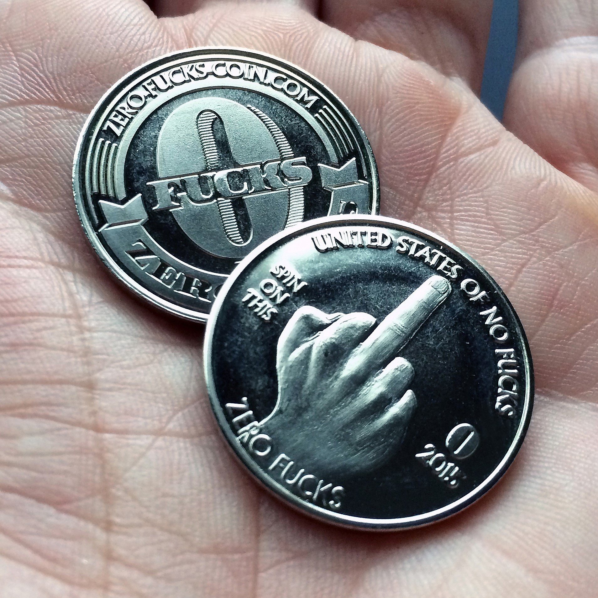 ZFG Inc. Zero F's Given Giftable Novelty Quarter Coins, Color Silver, The Middle Finger, 10-Pack by ZFG Inc.