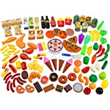 Creative Time 130 Piece Deluxe Pretend Play Food Assortment Set