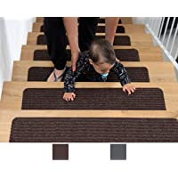 BRITOR Non Slip Carpet Stair Treads, Set of 2, Rug Non Skid Runner for Grip and Beauty. Safety Slip Resistant for Kids…
