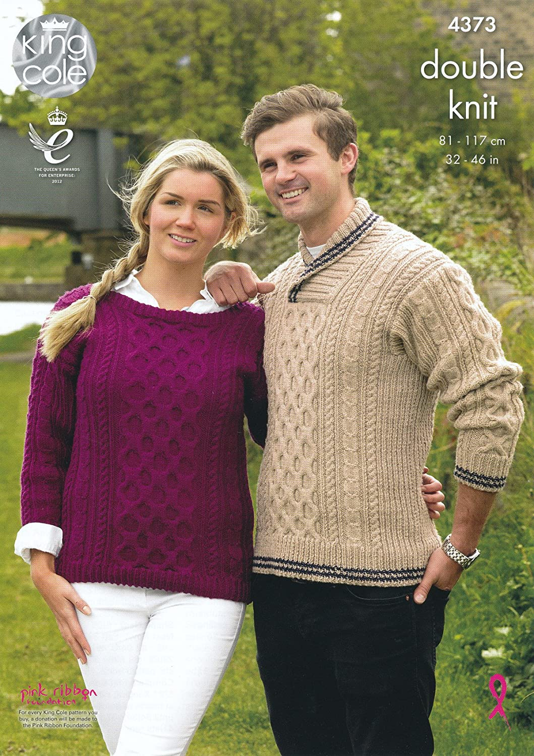 King Cole Ladies & Mens Double Knitting Pattern Straight or Roll ...
