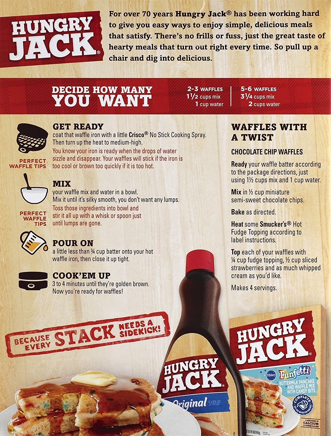 Amazon hungry jack buttermilk pancake and waffle mix with amazon hungry jack buttermilk pancake and waffle mix with protein 20 ounce pack of 12 grocery gourmet food ccuart Gallery