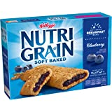 Kellogg's Nutri-Grain Cereal Bars (Blueberry, 8-Count Bars, Pack of 6) 10.4 ounces